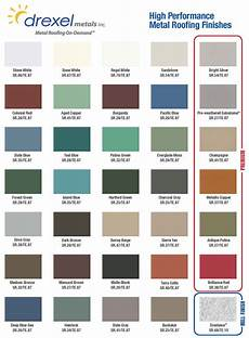 Roof Paint Colour Chart Drexel Metal Roof Color Chart Windy Valley Exteriors