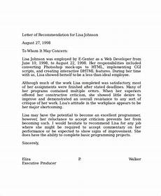 Template For Letter Of Reference 16 Professional Reference Letter Template Free Sample