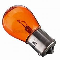 Orange Filament Light Bulb 4x 21w 12v Ba15s Tungsten Filament Car Motorcycle Orange