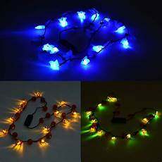 Light Up Halloween Accessories Halloween Led Light Up Necklaces 3 Pack Walmart Com