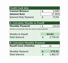 Credit Card Payoff Calc Sample Credit Card Payment Calculator 8 Documents In Excel