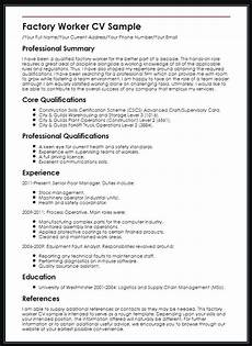 Resume The Work Process Worker Resume Sample Ipasphoto