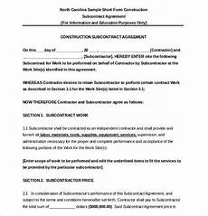 Free Subcontractor Agreement Subcontractor Agreement Template 10 Free Word Pdf