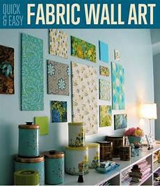 easy fabric wall home decor ideas diy ready