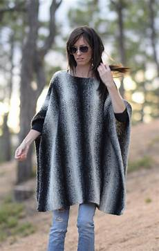 stricken poncho aspen relaxed knit poncho pattern in a stitch