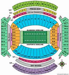 Bryant Denny Stadium Seating Chart With Seat Numbers Bryant Denny Stadium Seating Chart Alabama Football Tickets
