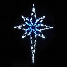 Led Lighted Star Of Bethlehem Led Star Of Bethlehem 4 8 Blue Amp White