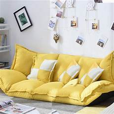 Floor Sofa Bed 3d Image by Linen Fabric Upholstery Adjustable Floor Sofa Bed Lounge