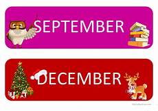 Printable Month Months Of The Year Flashcards Worksheet Free Esl