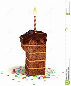 candela a forma di torta torta di compleanno di figura di numero uno illustrazione