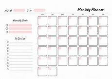 Free Printable Monthly Planner Monthly Planner Printable Template Vector Blank White