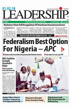 Parts Of A Newspaper Leadership Newspaper February 1st 2018 By Leadership