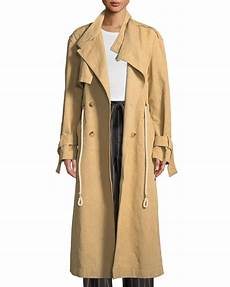 linen trench coats for right vince linen cotton drawstring trench coat neiman
