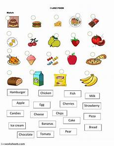 Exercise And Food Food The Food Online Worksheet