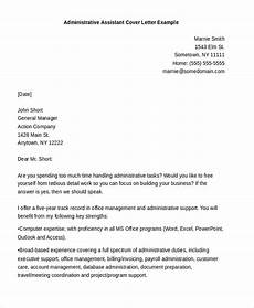 Cover Letter Example For Assistant Free 9 Cover Letter For Administrative Assistant Samples