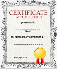 Generic Certificate Of Completion Certificate Of Completion Template Http Www