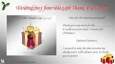 Letters Of Thank You How To Write A Christmas Gift Thank You Letter Youtube