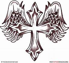 Cross With Wings Designs 50 Cross Tattoos Designs Of Holy Christian