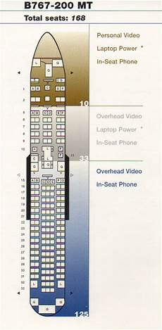 767 Jet Seating Chart Vintage Airline Seat Map United Airlines Boeing 767 200