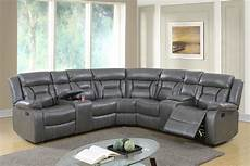 Gray Reclining Sectional Sofa 3d Image by Gel Leatherette Sectional Recliner Brown And Grey Umf