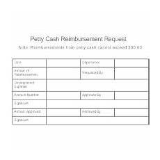Cash Reimbursement Form Accounting Form Templates