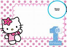Hello Kitty Birthday Template Free Hello Kitty 1st Birthday Invitation Template Drevio