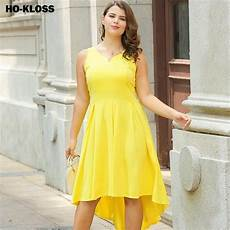 2018 light yellow summer dresses for plus size