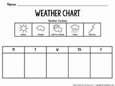 5 Day Weather Chart Weather Chart 1 Prekinders