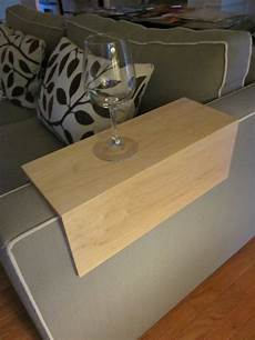 Sofa Armrest Tray 3d Image by Arm Wrap Solid Maple Wood Sofa Tv Tray By