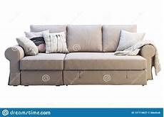 Sofa Support Cushions 3d Image by Modern Beige Fabric Sofa With Colored Pillows 3d Render
