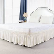 piccocasa 15 inch wrap around bed skirt for size bed