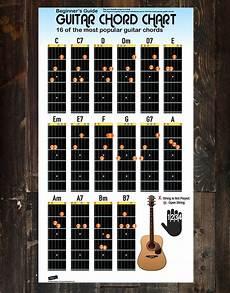 Gsus Guitar Chord Chart Guitar Chord Chart Poster 16 Popular Chords Guide