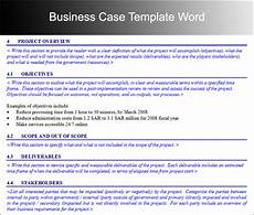 Free Business Case Template Business Case Template Fotolip