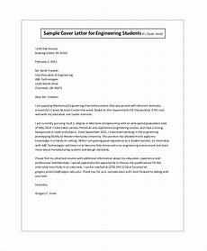 Cover Letter Examples For Students Free 8 Sample Cover Letter For Internship In Pdf Ms Word