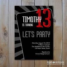 Teenage Birthday Invitation Templates Boy Birthday Invitation Templates