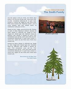 Holiday Family Newsletter Templates 11 Holiday Newsletter Templates Free Word Documents