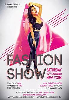 Fashion Show Flyers Fashion Show Invitation Flyer Template By Elegantflyer