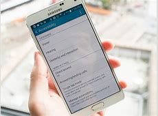 Accessibility features on the Samsung Galaxy Note 4