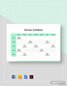 Call Schedule Template On Call Schedule Template 4 Free Excel Pdf Documents