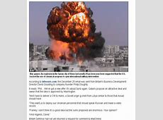 """2013 Daily Mail Article """"US to Stage Chemical Warfare"""