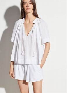 poets blouse vince sleeve poet blouse in white lyst