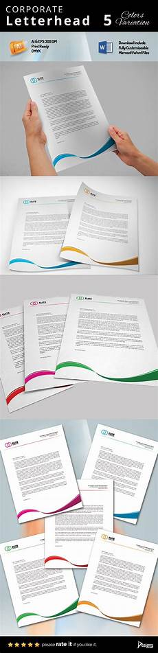 Ms Word Stationery Letterhead Ms Word Stationery Templates Creative Market