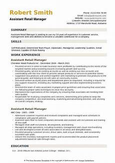 Resume Examples Retail Manager Assistant Retail Manager Resume Samples Qwikresume