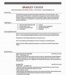 Community Outreach Cover Letters Community Outreach Specialist Resume Sample Livecareer