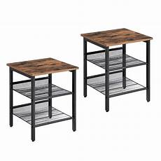 vasagle industrial nightstand set of 2 side tables end