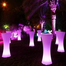 Led Party Table Lights Led Glowing Tables At Lounge Party Or Wedding For Bars