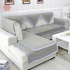 grey velvet quilted sofa cover quilting slipcovers canape