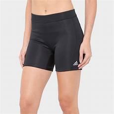 shorts feminino adidas techfit 5in feminino preto netshoes