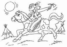 ausmalbilder indianer pferd indianer pferde