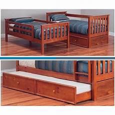 bunk bed king single pine in teak stain goingbunks biz